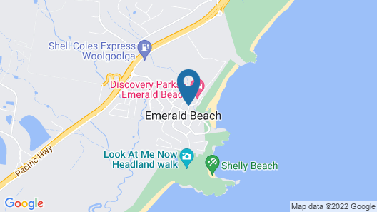 Discovery Parks – Emerald Beach Map