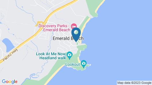 ArtHOUSE Beachfront Accommodation Map