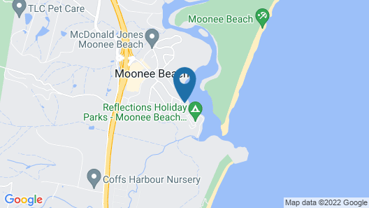 Reflections Holiday Parks Moonee Beach Map