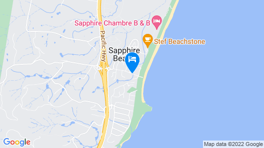 Sapphire Beach Holiday Park Map