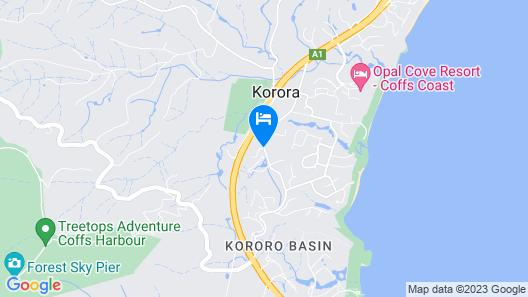 Korora Bay Village Resort Map