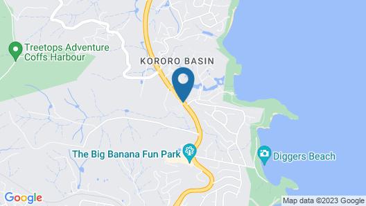 Banana Coast Caravan Park Map