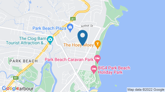Coastal Bay Motel Coffs Harbour Map