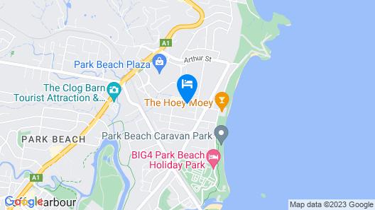 Coastal Bay Motel Coffs Harbour Map