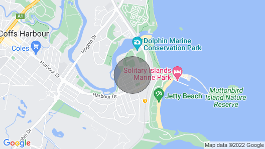 Townhouse on Coffs Harbour Jetty Map