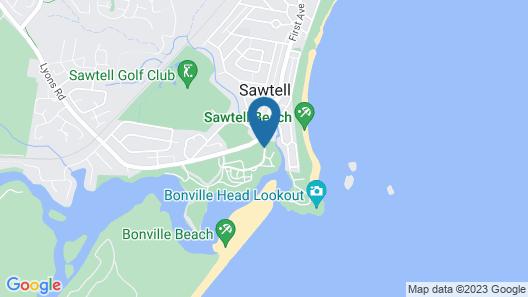 BIG4 Sawtell Beach Holiday Park Map