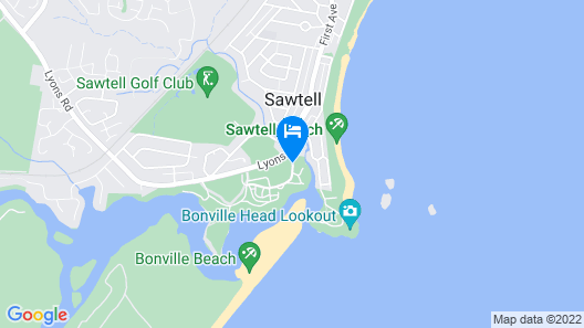 BIG4 Sawtell Beach Holiday Park Map
