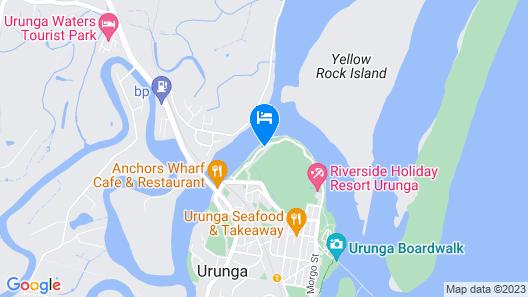 Riverside Holiday Resort Urunga Map