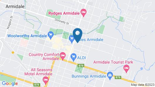Sandstock Motor Inn Armidale Map