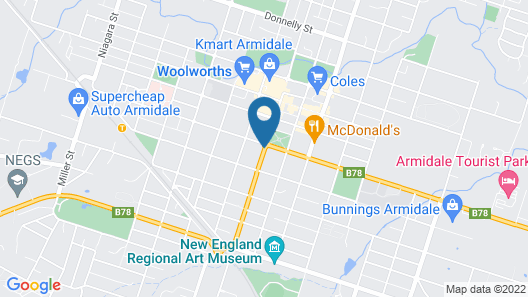 Comfort Inn City Centre Armidale Map