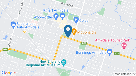 Country Comfort Armidale Map