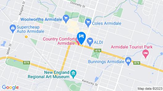 Abbotsleigh Motor Inn Map
