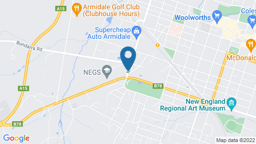 Acacia Motor Inn Armidale Map