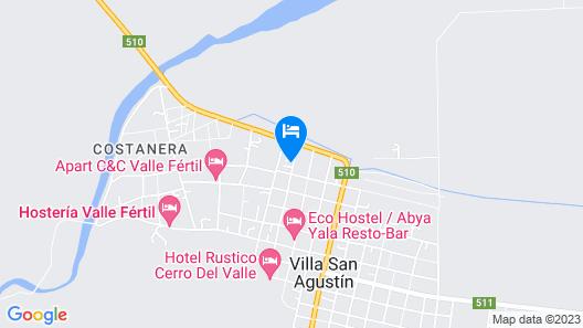 Cabañas Valle Verde Map