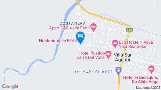 Hostería y Cabañas Valle Fertil Map