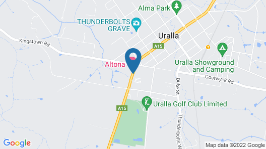 Altona Motel Map