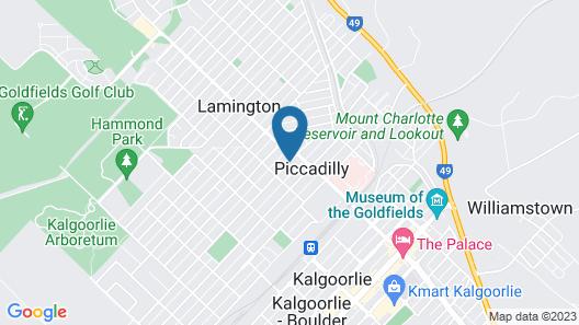 The Tower Hotel Kalgoorlie Map