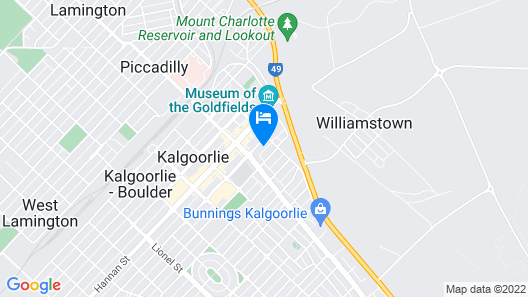 The Plaza Hotel Kalgoorlie Map