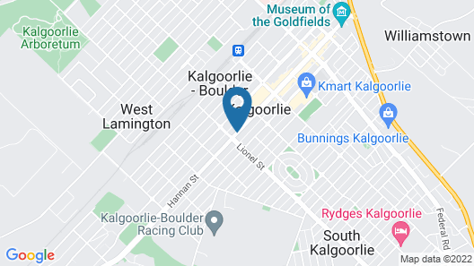 The View on Hannans Kalgoorlie Map