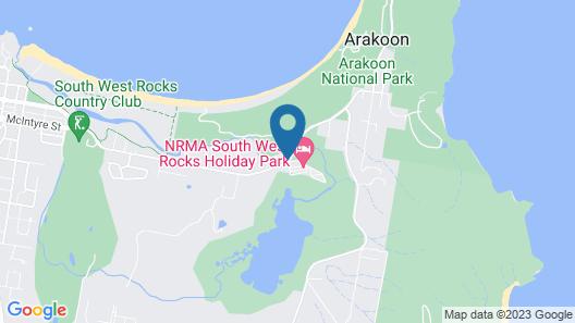 NRMA South West Rocks Holiday Park Map