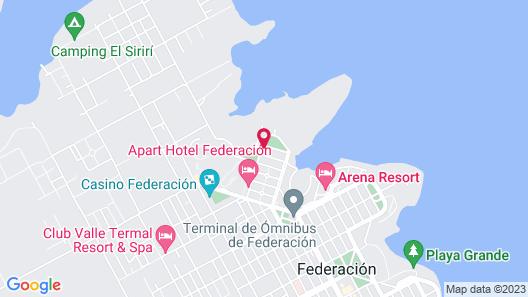 Brisas del Lago Apart & Hotel Federacion Map