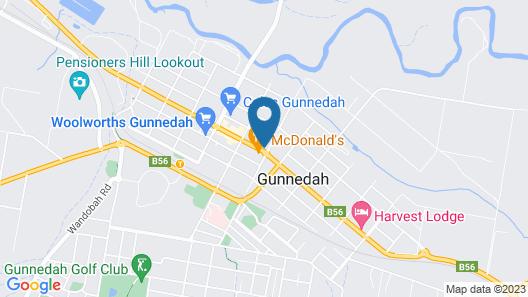 Gunnedah Hotel Map