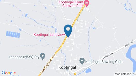 Kootingal Landview Motel Map