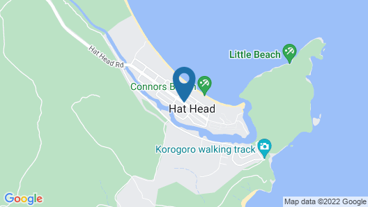 Muller's Cottage at Hat Head Map
