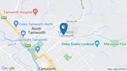 Amberoo Apartments Tamworth Map