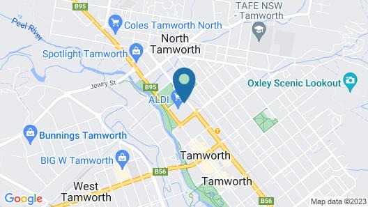 CBD Accommodation Tamworth Map