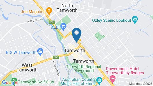 The Tamworth Hotel Map