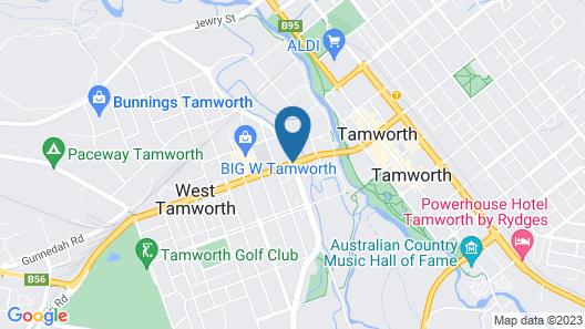 ibis Styles Tamworth Map