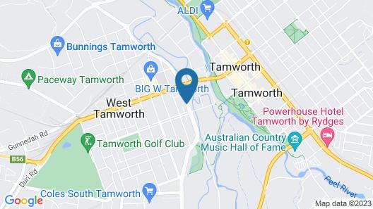 Quality Inn Ashby House Tamworth Map