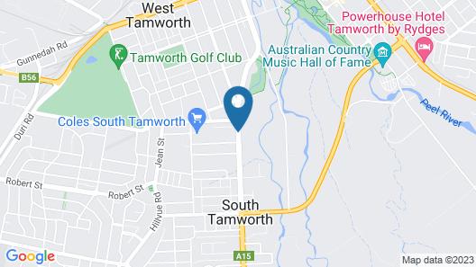 Tamworth Lodge Motel Map