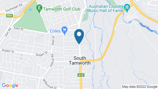 Best Western Plus All Settlers Motor Inn Map