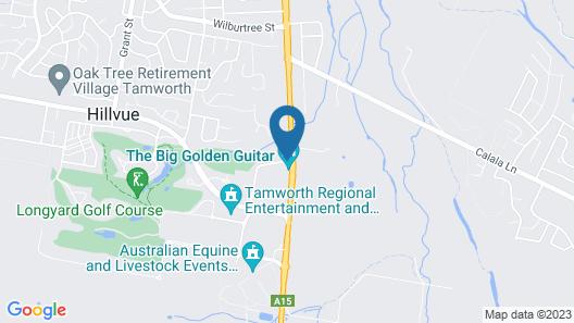 Golden Guitar Motor Inn Map