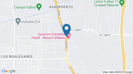 Quórum Cordoba Hotel - Resort Urbano Map