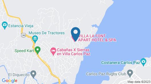 Villa La Font Apart Hotel & Spa Map