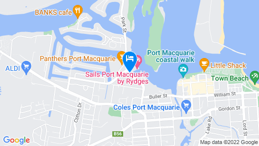 Sails Port Macquarie - By Rydges Map