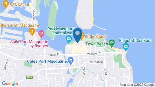 Rydges Port Macquarie Map