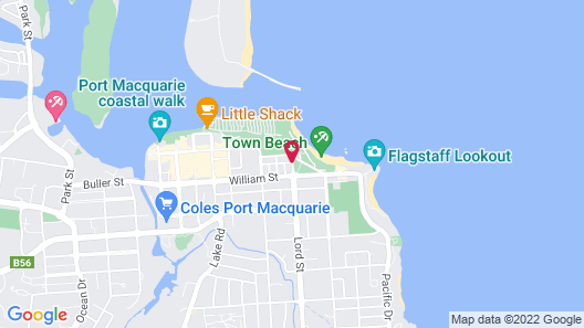 Beach House Holiday Apartments Map