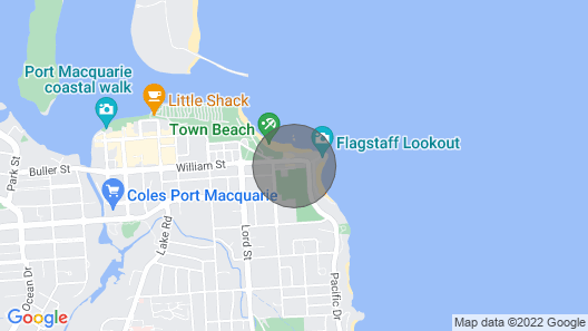 Town Beach Location - Unit 5/10-12 William Street Map