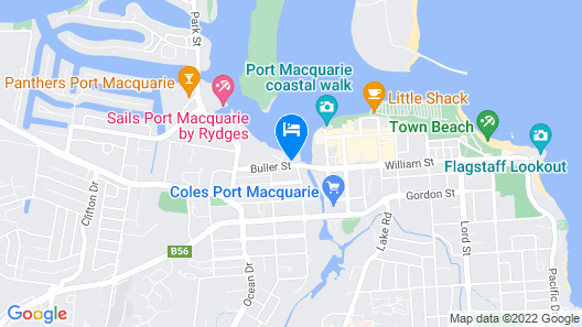 Waters Edge Port Macquarie Hotel Map