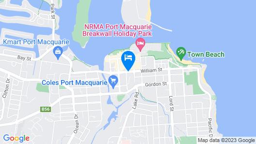 Mercure Centro Port Macquarie Map