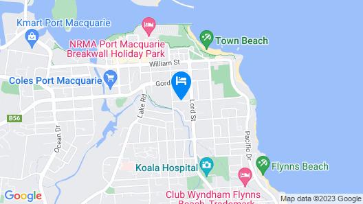 Surf Beach Motel Port Map