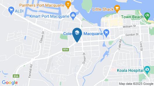 Port Macquarie Motel Map