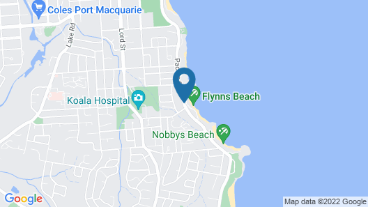 Beachside Holiday Apartments Map