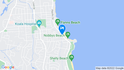 Flynns Beach Resort Map