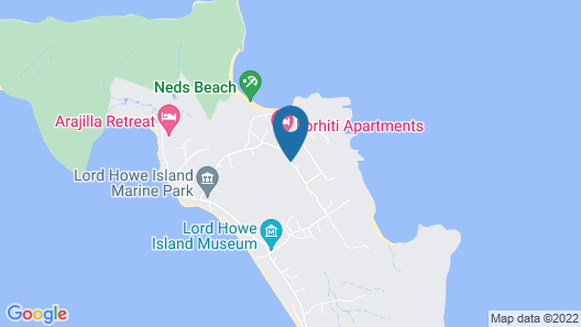 Beachcomber Lodge Map
