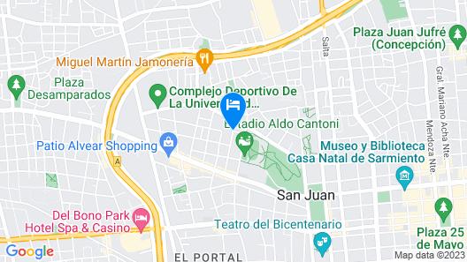 Capital Hostel - San Juan - Adults Only Map